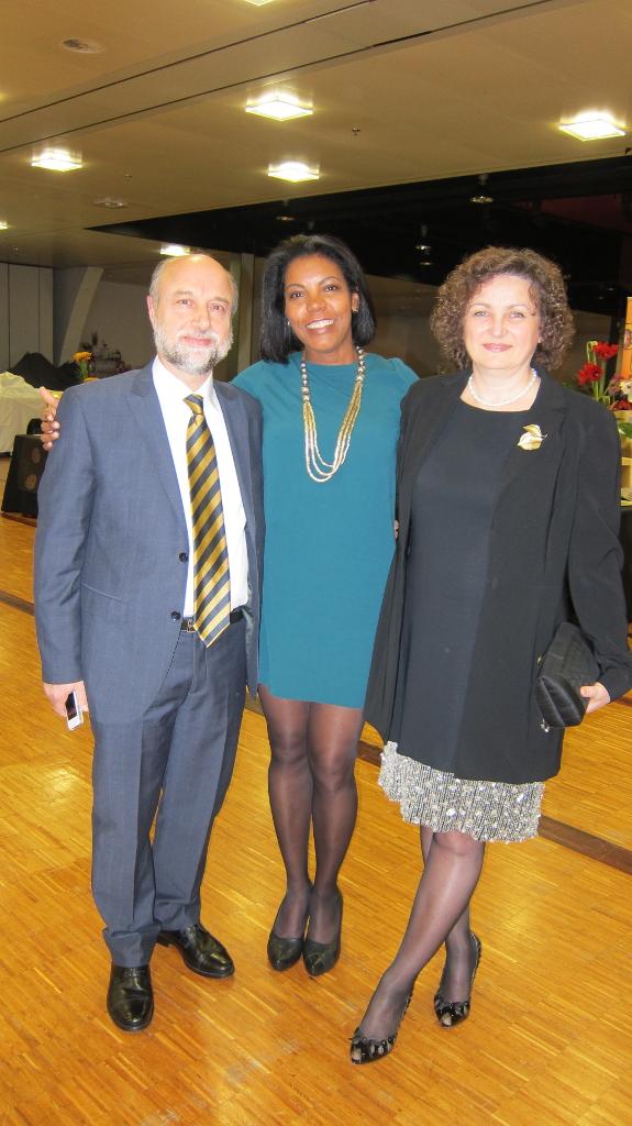 Avec Patrizia Arvieri et mari