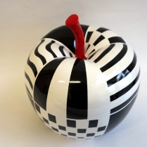pomme noir blanc