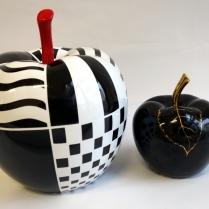 pomme noire et nb