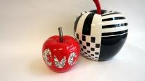 pomme rouge et noire